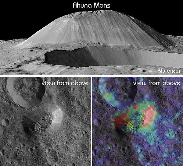 ceres ahuna mons mountain