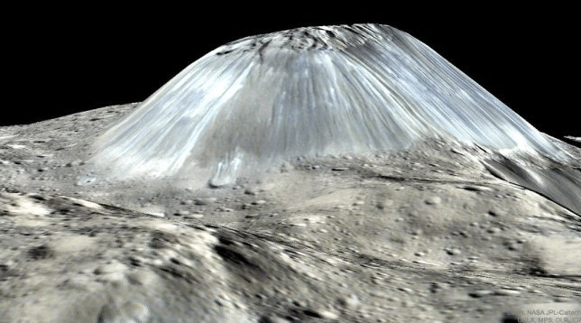 ceres with ahuna mons