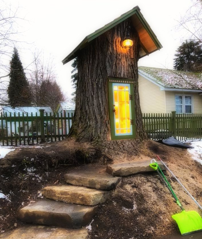 little free library tree