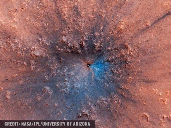 mars nasa crater
