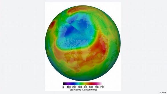 ozone hole arctic