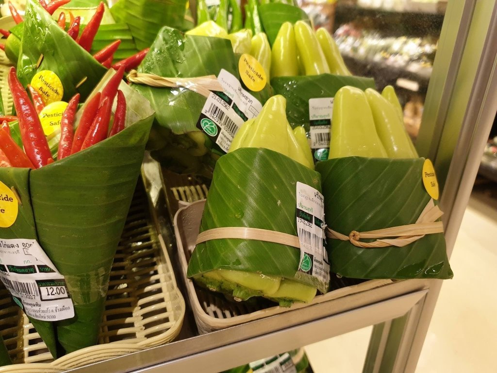 rimping banana leaves packaging