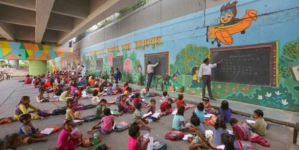 free school under th bridge