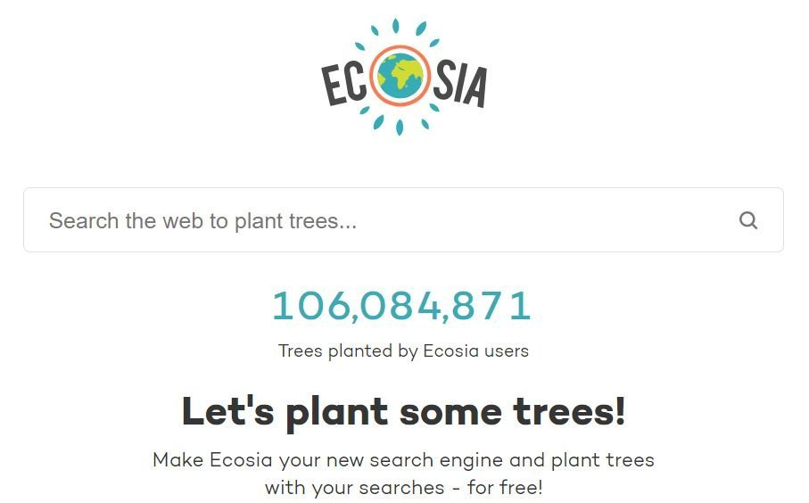 ecosia 100 million trees